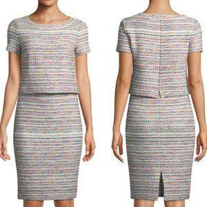 St. John Collection Multi Tweed Dress Size 8 $1295